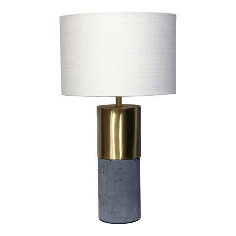 Aurelle Home Kyndra Cement and Gold Table Lamp