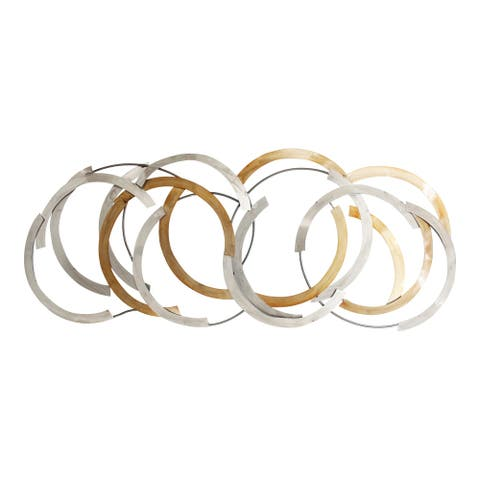 Aurelle Home Modern Metal Circles Wall Decor