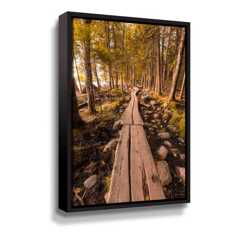 Acadia National Park in Maine III Gallery Wrapped Floater-framed Canvas