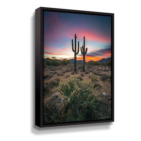 Arizona Desert Gallery Wrapped Floater-framed Canvas