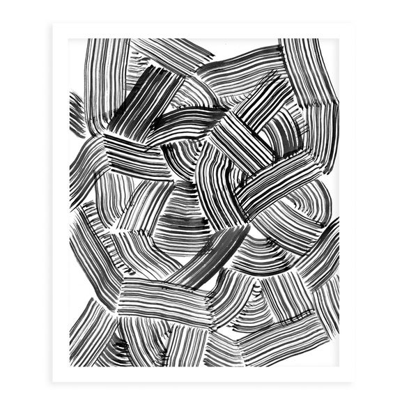 TANGLE White Framed Giclee Print By Becky Bailey