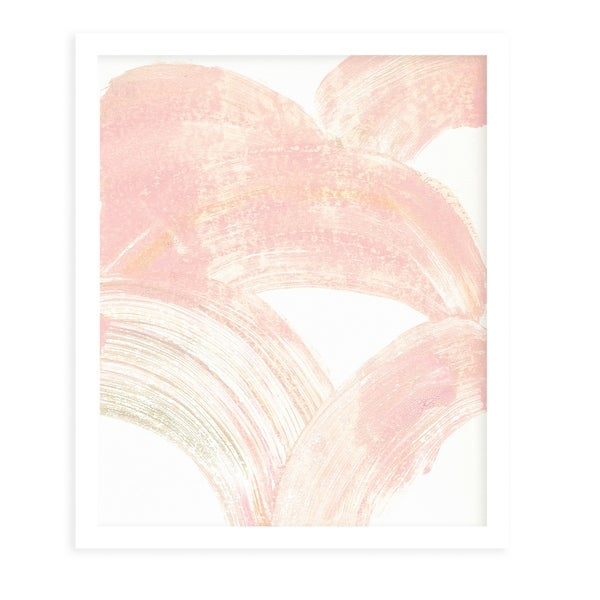PINK SWIPE White Framed Giclee Print By Becky Bailey