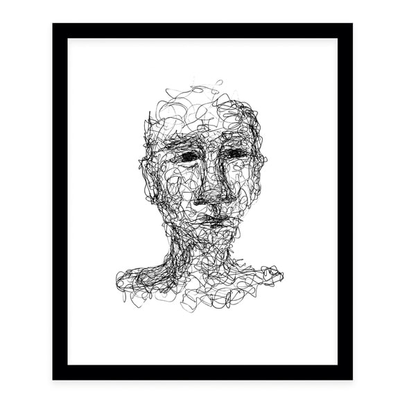 ABSTRACT THOUGHTS Black Framed Giclee Print By Danushka Abeygoda