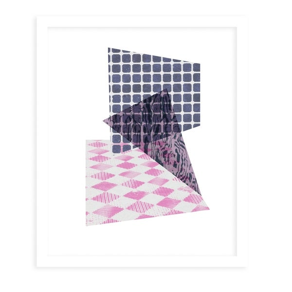 COMPOSITION White Framed Giclee Print By Becky Bailey