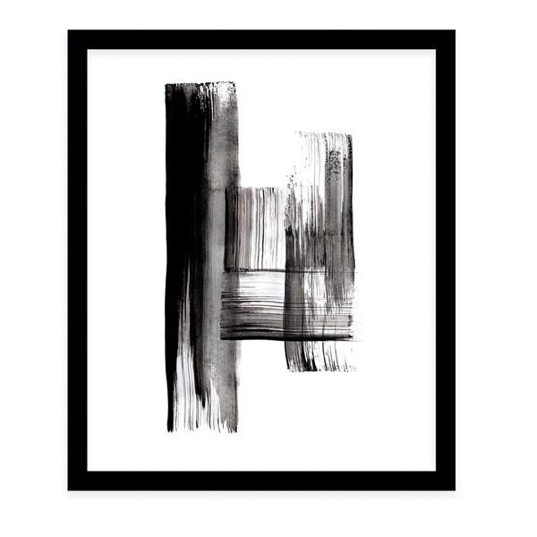 INK BLACK Black Framed Giclee Print By Danushka Abeygoda