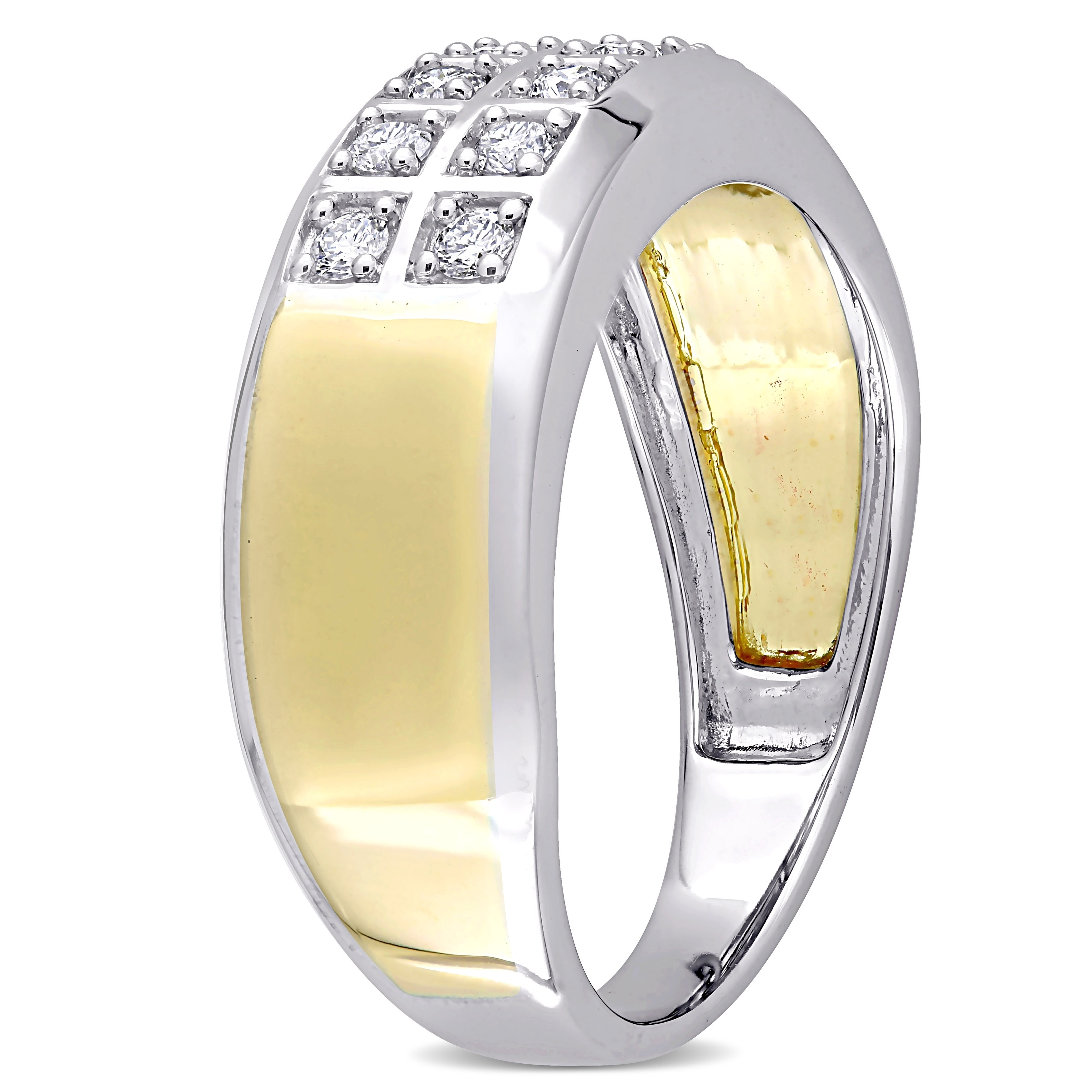 Size-5.25 1//6 cttw, G-H,I2-I3 Diamond Wedding Band in 10K Yellow Gold