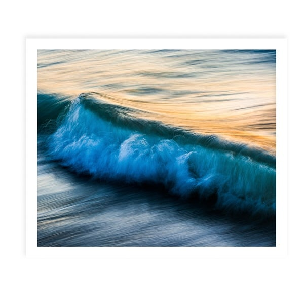 THE UNIQUENESS OF WAVES XI White Framed Giclee Print By Tal Paz Fridman
