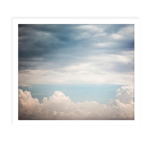 AUTUMN CLOUDS White Framed Giclee Print By Tal Paz Fridman