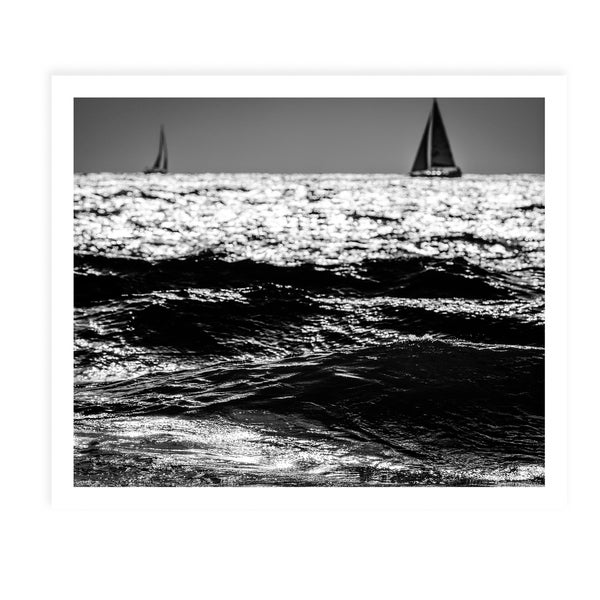TWO SAILBOATS White Framed Giclee Print By Tal Paz Fridman