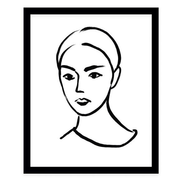 LYDIA Black Framed Giclee Print By Terri Ellis