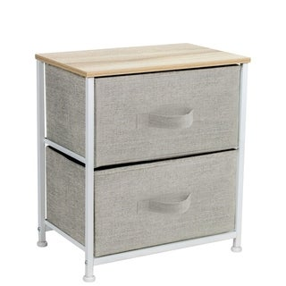2 Drawers Chest Dresser    Biege