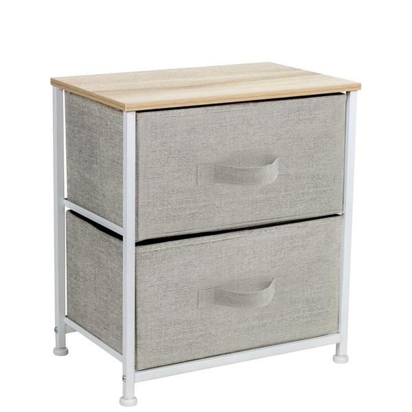 2 Drawers Chest Dresser Biege