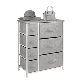 6 Drawers Chest Dresser Grey