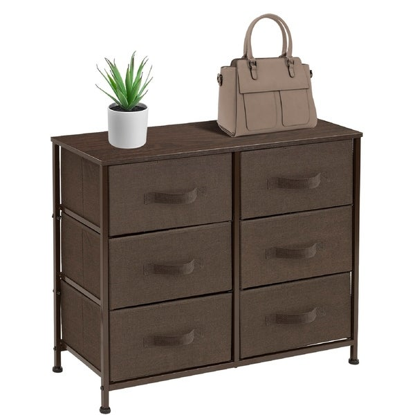 Extra Wide Dresser Organizer With 6 Drawers - Brown