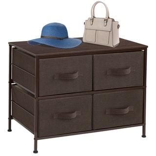 Extra Wide Dresser Organizer With 4 Drawers - Brown