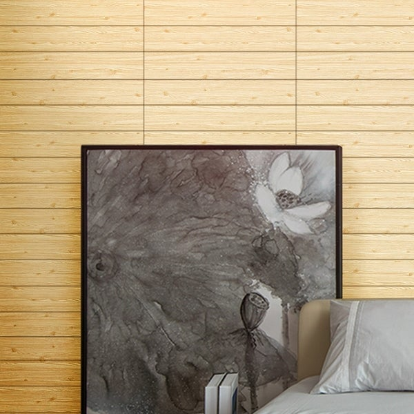 Wood Grain Pattern Wall Sticker, Perfect For Wall Decal (1Pack)