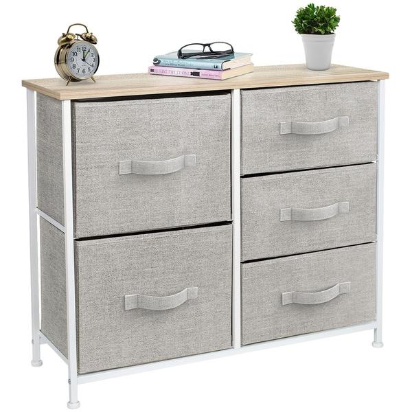 5 Drawers Chest Dresser - Beige