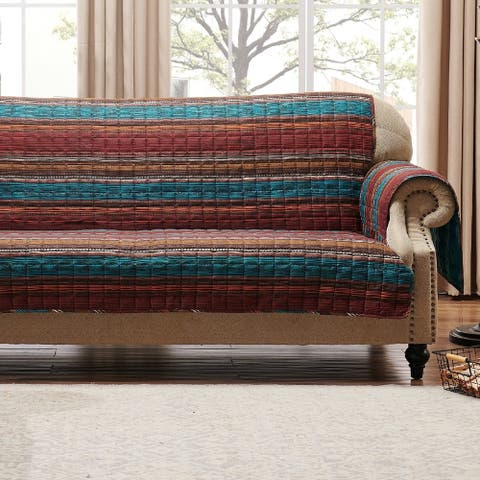 Porch & Den Parnell Stripe Pattern Reversible Sofa Protector