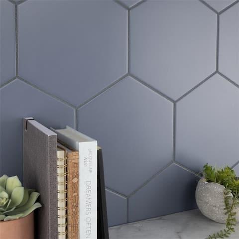 SomerTile 8.63 x 9.88-Inch Textilis Basic Hex Ducados Porcelain Floor and Wall Tile (25 Tiles/11.56 sqft.)