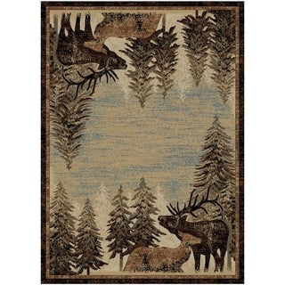 Link to Mayberry Lodge King Timberland Lodge Area Rug Similar Items in Rugs