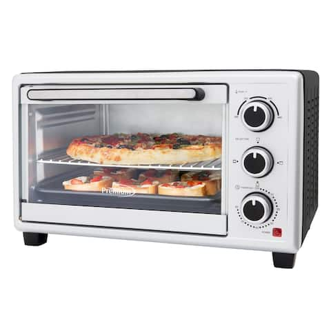 1440 W 6-Slice Silver Toaster Oven with Triple Rack Position