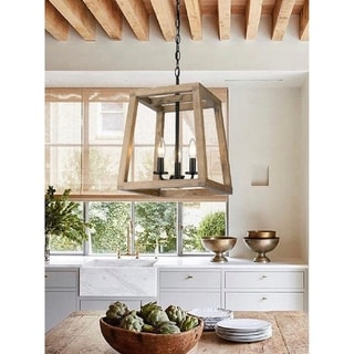 Link to Rustic Farmhouse Geometric Wooden and Black Lantern Similar Items in Pendant Lights