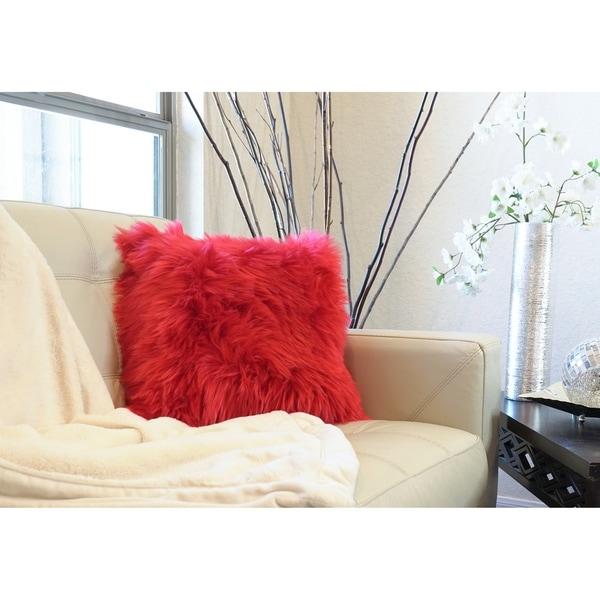 "Decorative New Luxury Series Merino Style Fur Throw Pillow Case Cushion Cover 18"" x 18"""