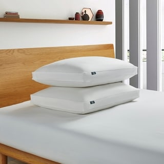 Serta 233 Thread Count White Goose Feather and Down Fiber Pillow (Set of 2)