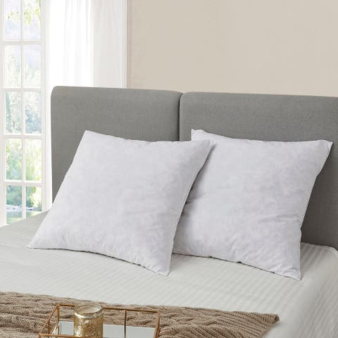 Serta European Square 26 x 26 Inch Feather Pillows (Set of 2)