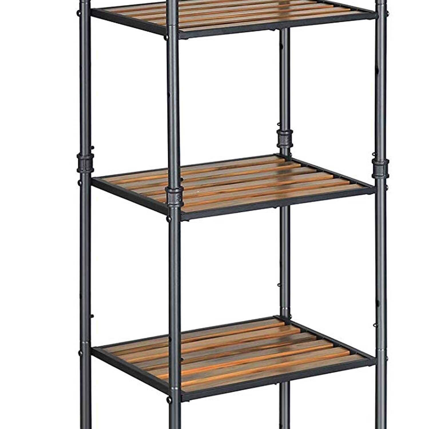 5 Tier Metal Frame Plant Stand With Adjustable Shelves Brown And Black On Sale Overstock 30825170