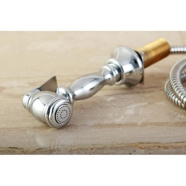 French Country Kitchen Chrome Faucet   Free Shipping Today   Overstock.com    11216854