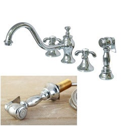 French Country Kitchen Chrome Faucet