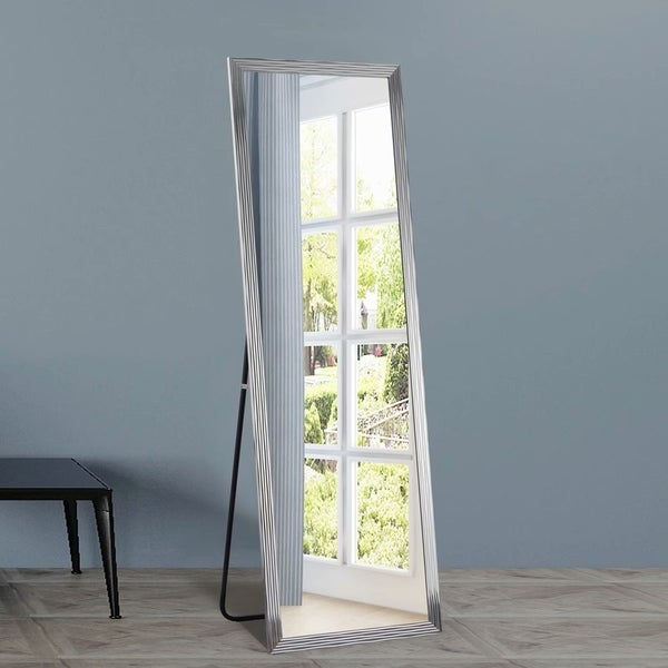 Medieval Rectangle Full Length Floor Vanity Mirror with Standing - 64.2x21.3