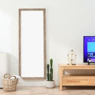 Rustic Rectangle Full Length Floor Vanity Mirror with Standing - 64.2x21.3