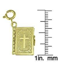 14k Yellow Gold Lord's Prayer Book Charm