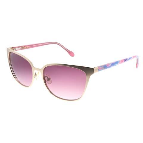 Lilly Pulitzer LP Sheba YG Womens Gold Frame Brown Gradient Lens Sunglasses