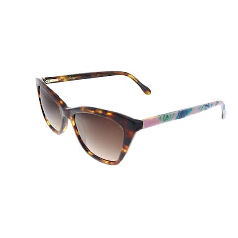 Lilly Pulitzer LP Britta TO Womens Tortoise Frame Brown Gradient Lens Sunglasses