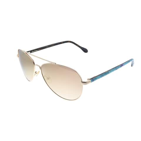 Lilly Pulitzer LP Danica YG Unisex Gold Frame Gold Mirror Lens Sunglasses