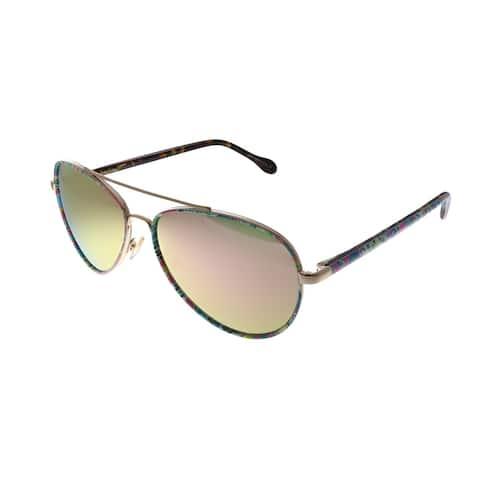 Lilly Pulitzer LP Danica PK Unisex Pink Frame Pink Mirror Lens Sunglasses