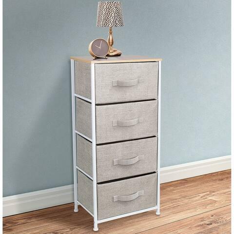 4 Drawers Chest Dresser Beige