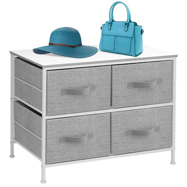 Extra Wide Dresser Organizer With 4 Drawers - White