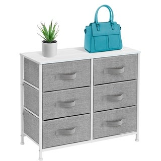 Extra Wide Dresser Organizer With 6 Drawers - White
