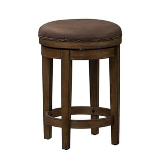 Aspen Skies Weathered Brown Swivel Barstools
