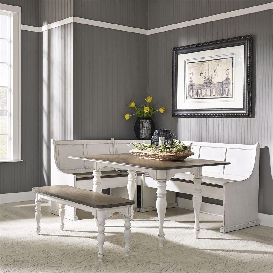 Magnolia Manor Antique White 5 Piece Nook Set