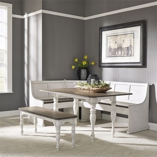 Link to Magnolia Manor Antique White 5-piece Nook Set Similar Items in Dining Room & Bar Furniture