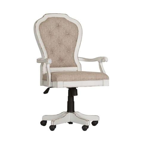 Magnolia Manor Antique White Jr Executive Desk Chair