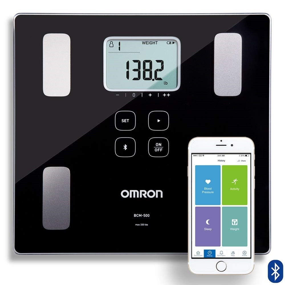 OMRON BCM500 Body Composition Monitor and Scale with Bluetooth Connectivity