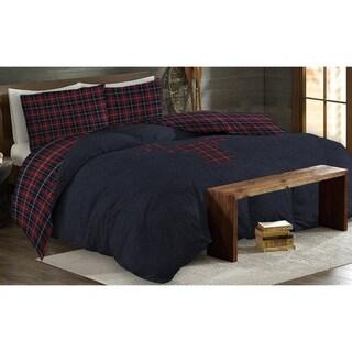 Rustic Cabin- Finnegan Navy 3Pcs Comforter Set