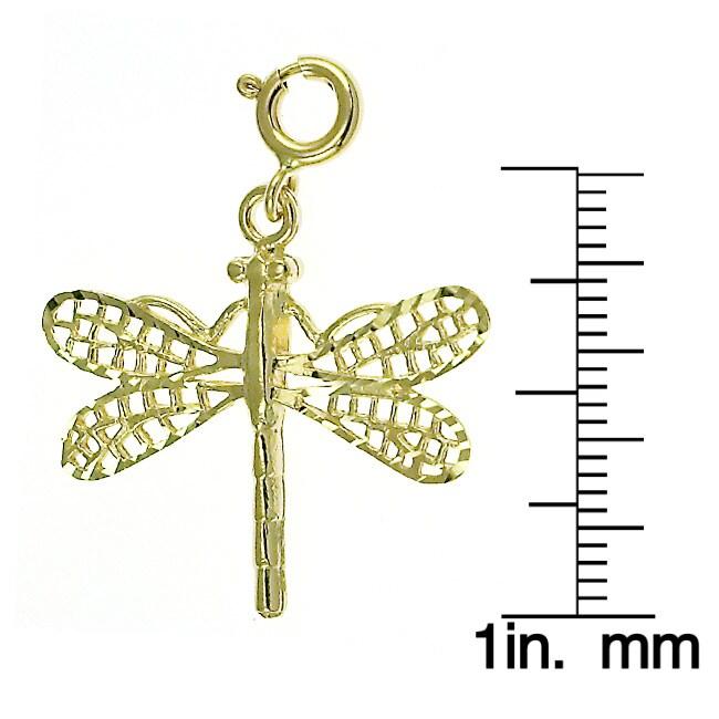 14k Yellow Gold Dragon Fly Charm