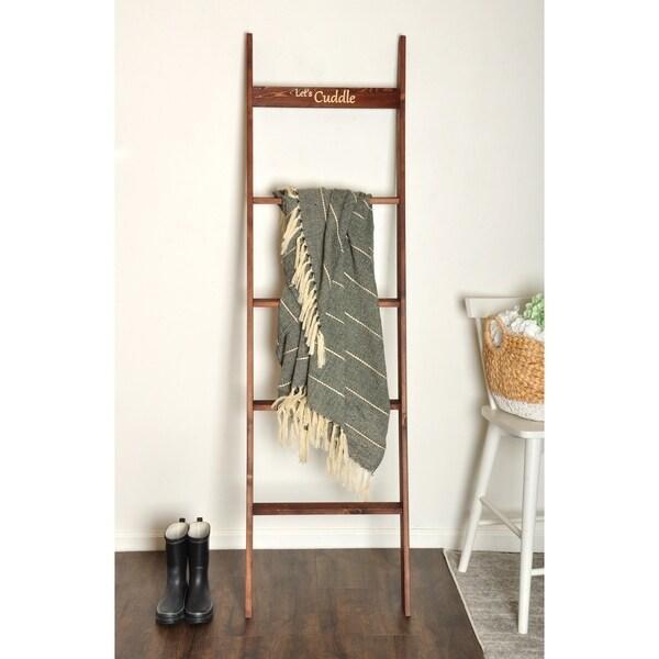Engraved 6ft Decorative Blanket Ladder - 20 x 72